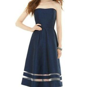 Alfred Sung D712 Dove Cocktail Bridesmaid Prom NWT
